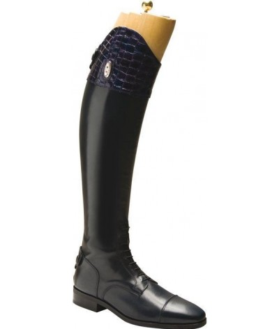 Secchiari Riding Boots Blue Croc Top