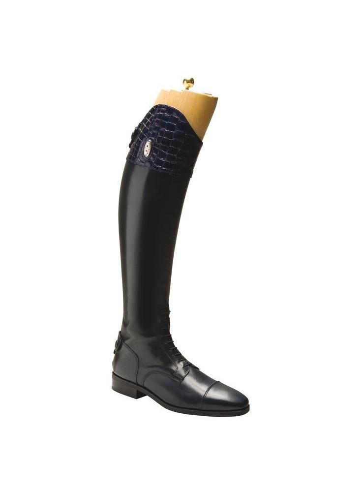 Secchiari Riding Boots Blue Croc Top