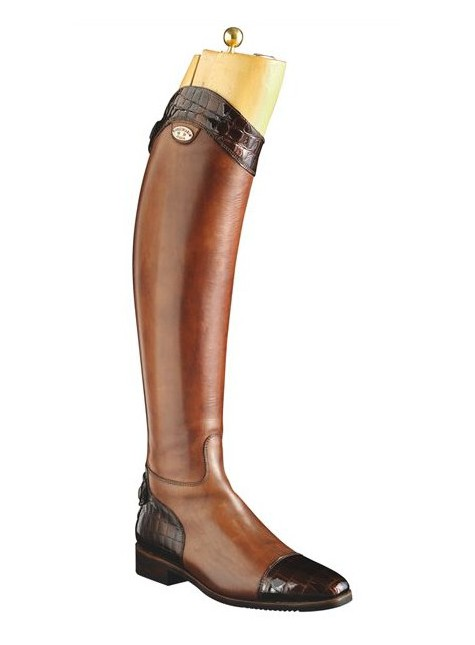 Secchiari Riding Boots Brown and Croc Boots