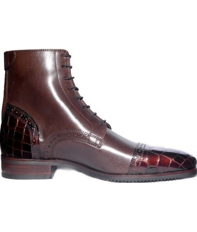 Secchiari Jodhpurs Brown Patent Toe And Heel
