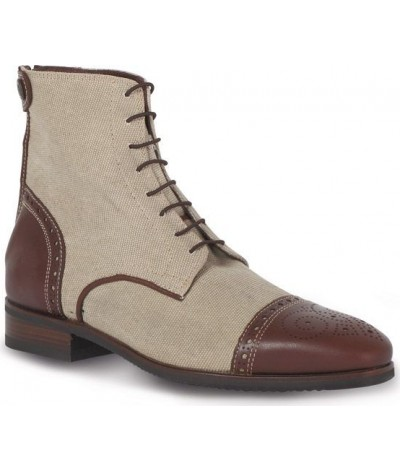 Secchiari Ankle Boots Canvas & Leather