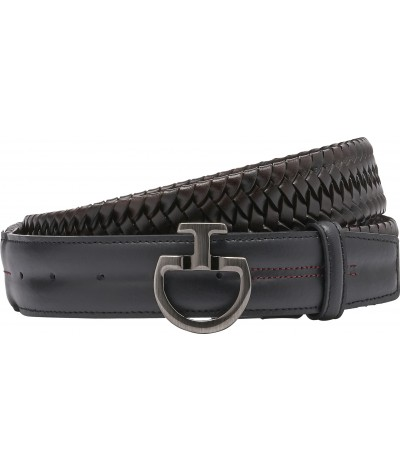 Men's Elastic Leather Brown...
