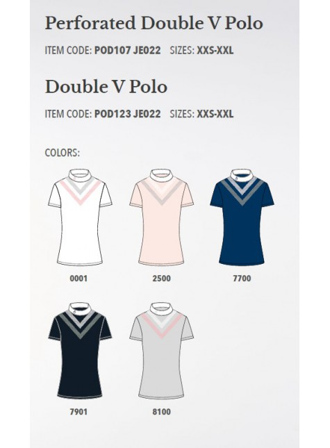Cavalleria Toscana Perforated Double V Polo