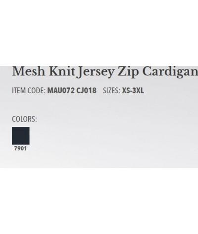 Cavalleria Toscana Mesh Knit Jersey Zip Cardigan Heren Vest