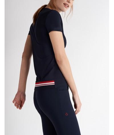 Cavalleria Toscana Stripe Rib Knit Back Waistband T-shirt