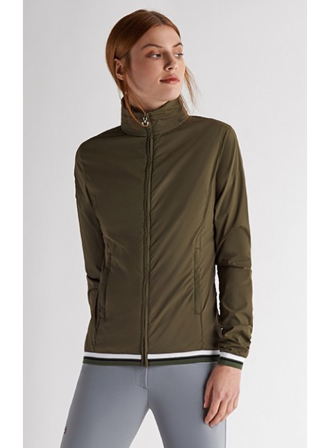 Cavalleria Toscana Dames Nylon Hooded Windbreaker