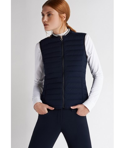 Cavalleria Toscana Quilted Front/Flat Back Puffer Vest