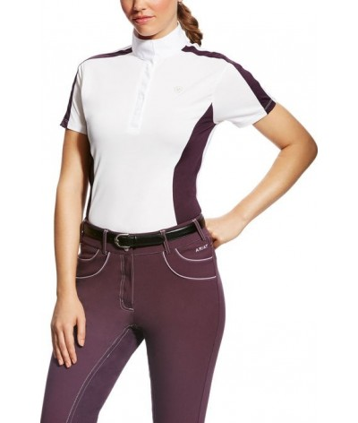 Ariat Competition Shirt Aptos Colorblock Purple