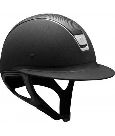 Samshield Helmet Miss Shield Premium Black+ Top Leather + Chroom