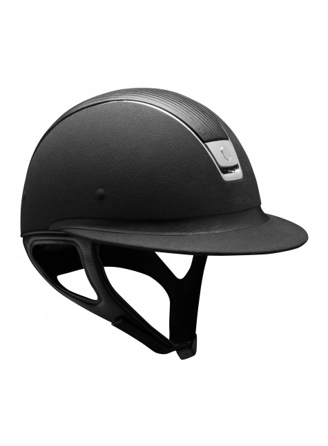 Samshield Cap Miss Shield Premium Zwart + Top Leer + Chroom