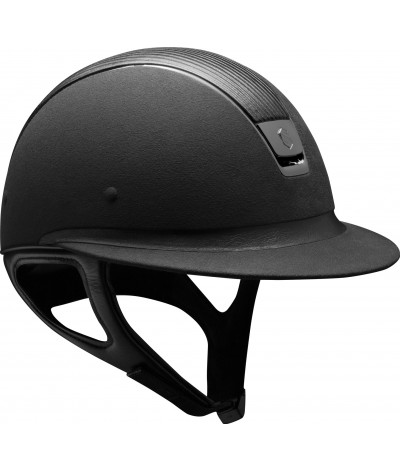 Samshield Helmet Miss Shield Premium Black+ Top Leather + Black Chroom