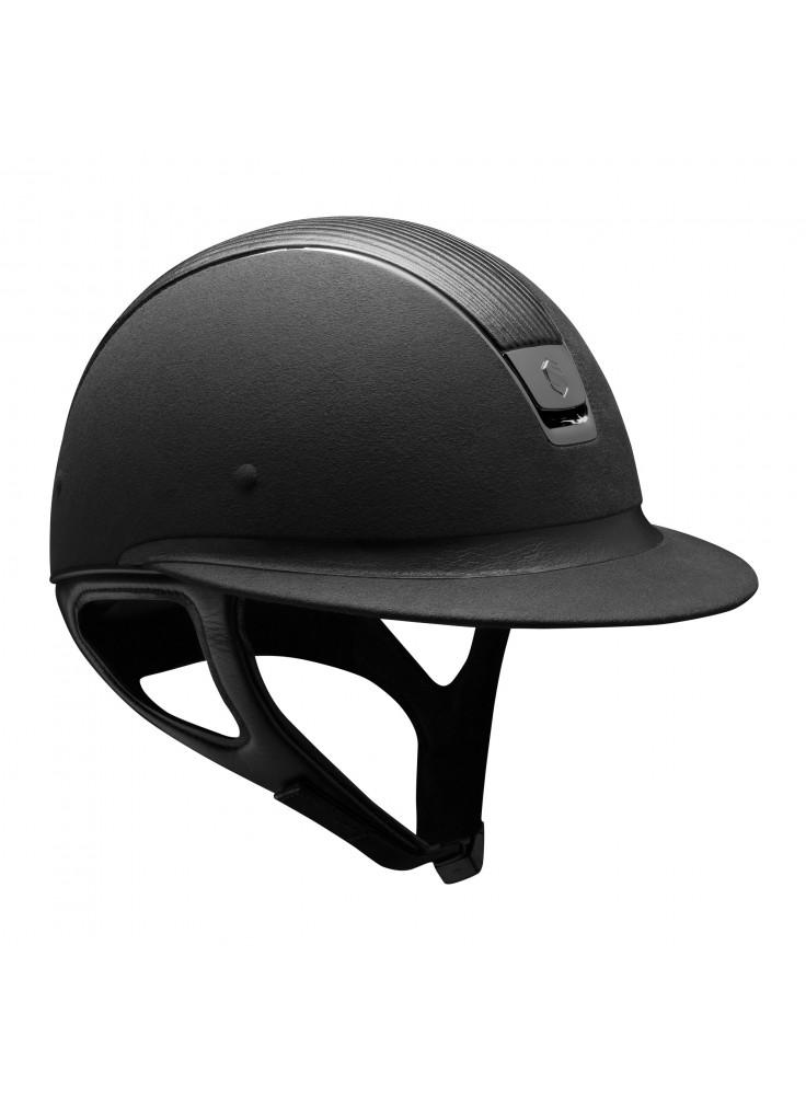 Samshield Helmet Miss Shield Premium Black+ Top Leather + Black Chroom