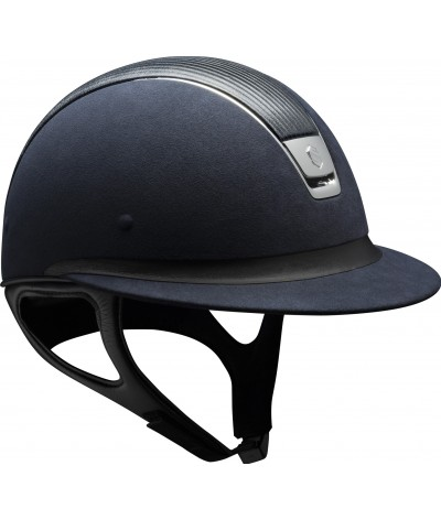 Samshield Cap Miss Shield Premium Blauw + Top Leer + Band Leer + Chroom
