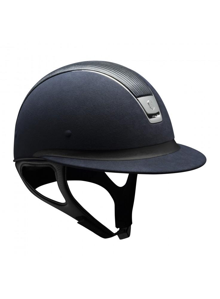 Samshield Cap Miss Shield Premium Blauw + Top Leer + Band Leer + Chroom