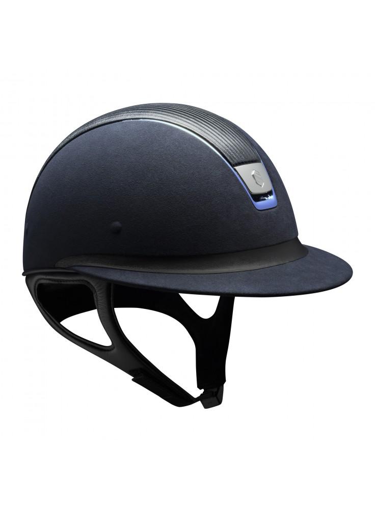 Samshield Cap Miss Shield Premium Blauw + Top leer + Band Leer + Chrome Blauw