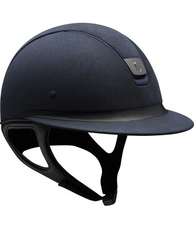 Samshield Helmet Miss Shield Premium Blue + Top Alcantara + Band Leather + Mat Blue + Black Chroom