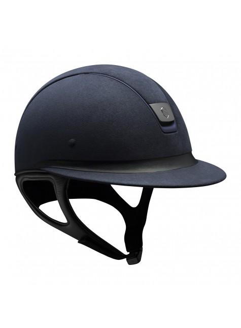 Samshield Cap Miss Shield Premium Blauw + Top Alcantara + Band Leer + Mat Blauw + Zwart Chroom