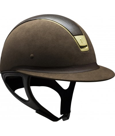 Samshield Helmet MIss Shield Premium Brown + Top Leather + Band leather + Gold