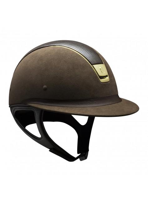 Samshield Cap MIss Shield Premium Bruin + Top Leer + Band leer + Goud