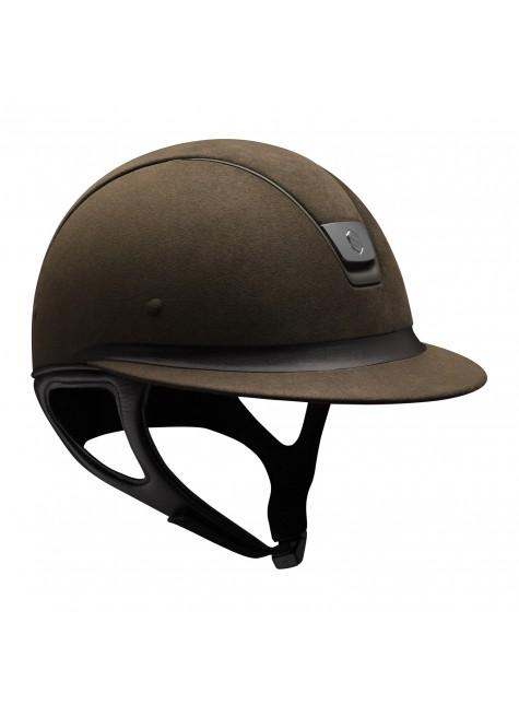 Samshield Helmet Miss Shield Premium Brown + Top Alcantara + Band Leather + Mat Bronze + Black Chroom