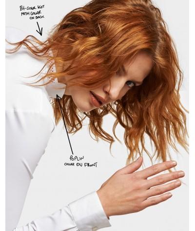 Cavalleria Toscana Perforated Knit Collar Wedstrijdshirt
