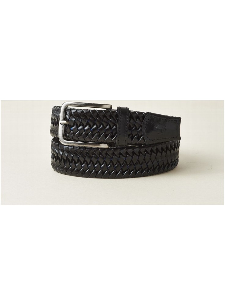 Cavalleria Toscana Men´s Leather Stretch Stripe Belt