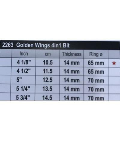 Stubben Golden Wings 4IN1 Snaffle Bit Single Jointed