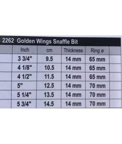Stübben Golden Wings Snaffle Bit Double Broken