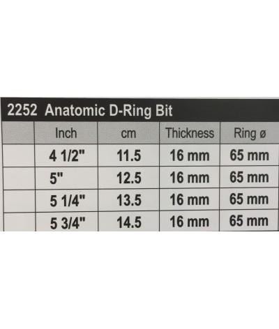 Stübben Sweet Copper Anatomic D-ring Bit Double Broken