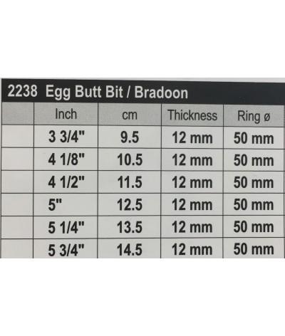 Stübben Sweet Copper Egg But Bit / Bradoon Single Jointed