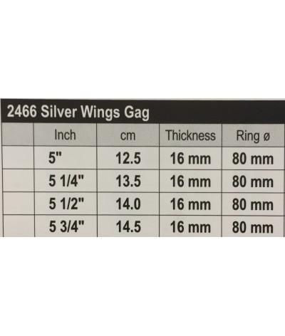 Stübben Silver Wings Gag Double Broken