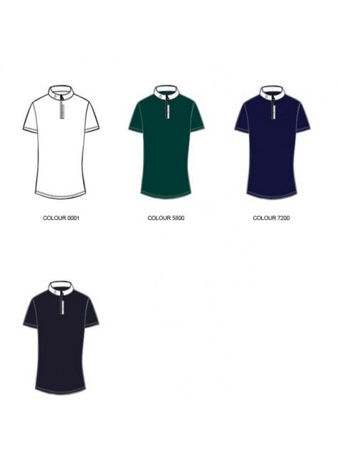 Cavalleria Toscana Front Zip Competition Polo W/3D Logo