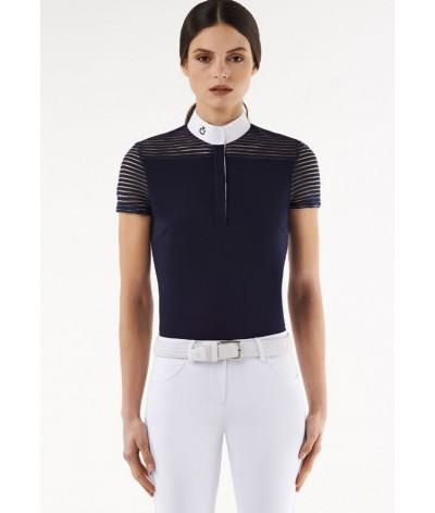 Cavalleria Toscana Transparant Wool Stripe Jersey S/S Polo