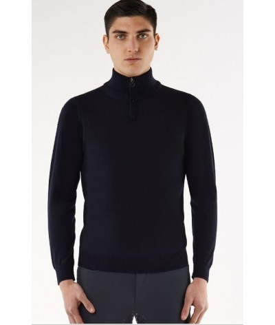 Cavalleria Toscana Tech Wool ZipTurtleneck Men