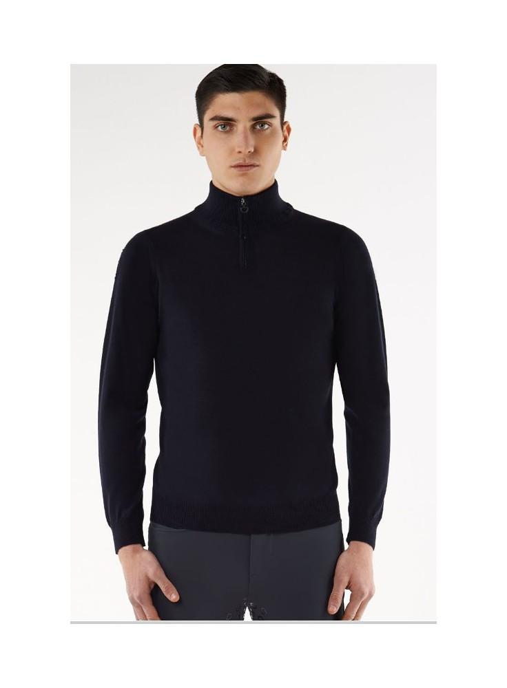 Cavalleria Toscana Tech Wool ZipTurtleneck Men