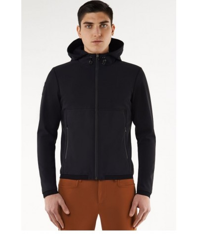 Cavalleria Toscana Square Insert Jersey Fleece Hooded Sweatshirt