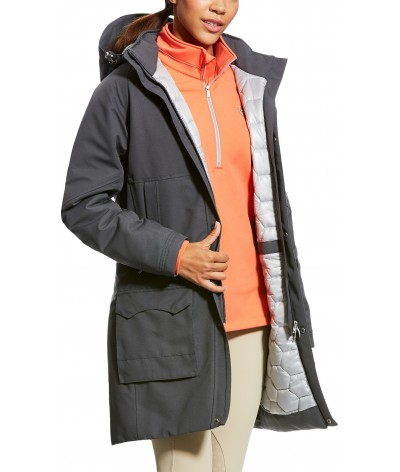Ariat Women's Workhorse H2O Coat Graphite