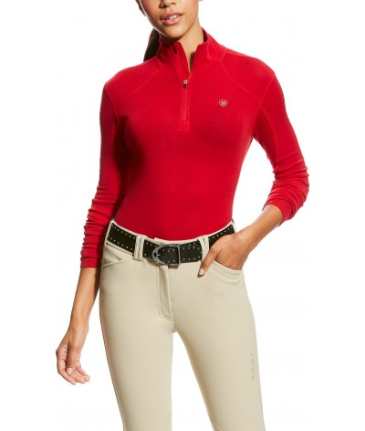 Ariat Women's Cadence Wool 1/4 Zip Salsa