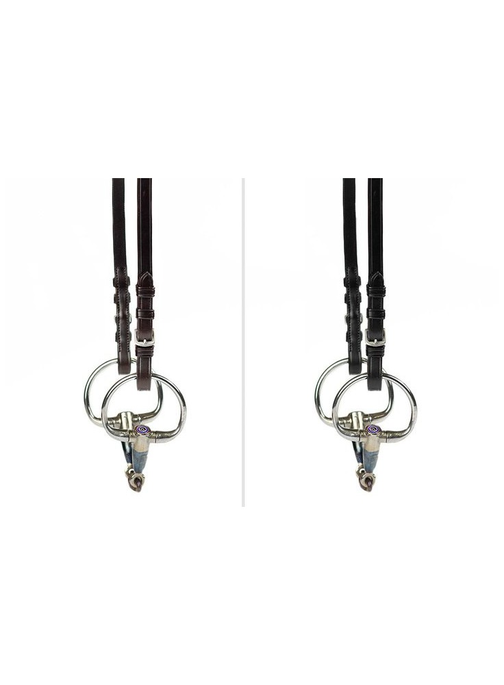 PS of Sweden Cheek Pieces flat with selectable cradles™ and regular buckles