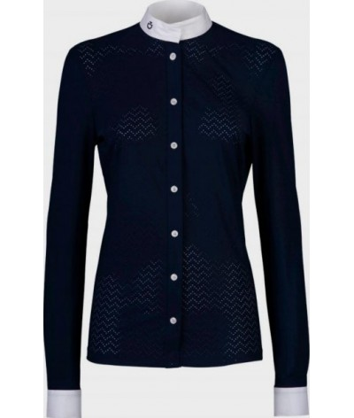 Cavalleria Toscana Vertical Perforated Wedstrijdshirt