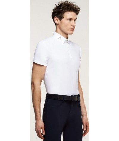 Cavalleria Toscana Perforated Jersey Insert Polo