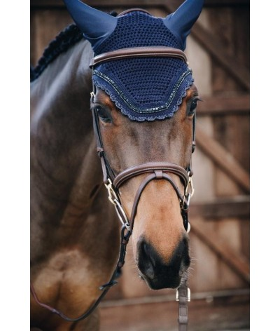 Kentucky Horsewear Fly Veil Wellington Stone and Pearl