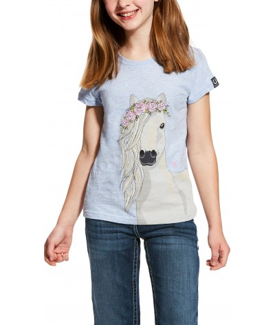 Ariat Girls Festival Horse Tee Chambay Heather