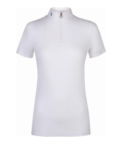 Cavalleria Toscana Dames Polo S/S W/Knit Jacquard Back