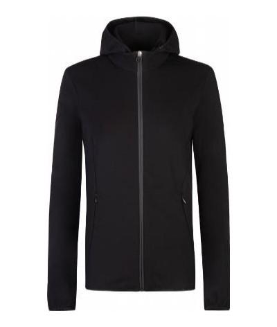 Cavalleria Toscana Women's Jersey Jacket W/Knit Jacquard Insert