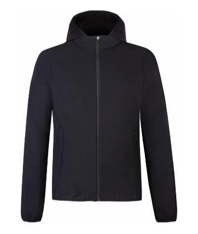 Cavalleria Toscana Men's Jersey Jacket W/Knit Jacquard Insert