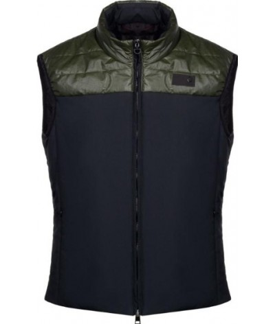 Cavalleria Toscana Coated Rip-Stop Quilted Vest