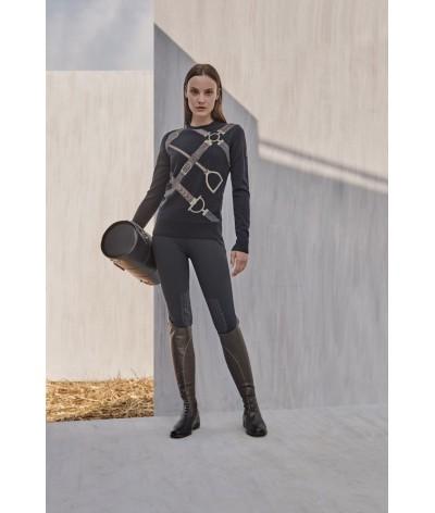 Pikeur Sina Womens Polo Neck Pullover Asphalt