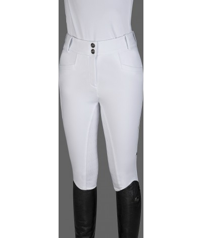 Equiline Women's  Softshell Riding Breeches Edelina Full Grip High Waist