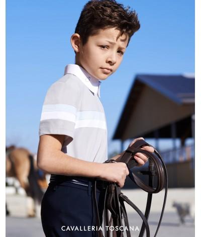 Cavalleria Toscana Jersey 2 Stripe S/S Compeititon Polo